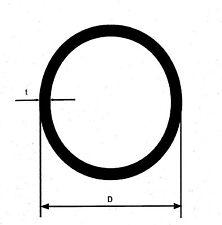 50 cm  V2A Edelstahlrohr Rohr D=26,9x2 mm geschl. K240