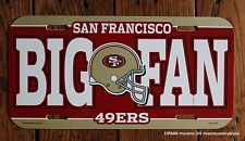 San Francisco 49ers NFL Football League License Plate Plastic Car Tag wall sign