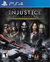 INJUSTICE GODS AMONG US ULTIMATE EDITION PS4 NEW! BLUE LABEL! BATMAN, SUPERMAN