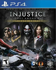 PS4 Injustice Gods Among Us Ultimate Edition NEW Sealed Region Free USA game