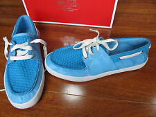 NEW COACH MALANIA Boat Sneakers Shoes Womens SZ 6 Turquoise A0973
