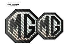 MG TF LE500 Emblem Badge Insert Front Rear Boot 70mm 90mm Black Carbon Fibre Set