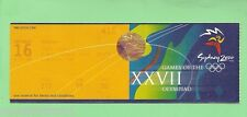 #D89.  USED  SYDNEY 2000 OLYMPIC PASS FOR HOCKEY, September 16th