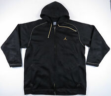 AIR JORDAN BLACK & GOLD WINGS BIG LOGO JUMPMAN FULL ZIP HOODIE JACKET EUC 3XL