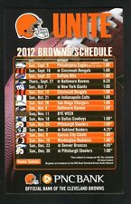 Cleveland Browns--2012 Magnet Schedule