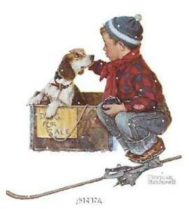 Norman Rockwell Boy Meets His Dog Open Edition 10.25x12.75