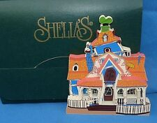 1997 SHELIA'S COLLECTIBLE DISNEY GOOFYS HOUSE MICKEYS TOONTOWN WOOD HOUSE EXC02