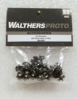 """Walthers Proto HO 920-2303 36"""" Turned Metal Wheelsets With Plastic Axles (12)"""