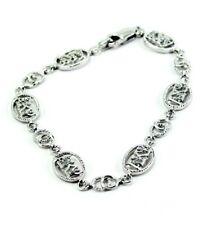 Alpha Kappa Psi Fraternity Sterling Silver Bracelet with CZs - New!!