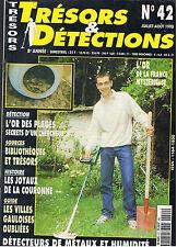 TRESORS ET DETECTIONS  N°42 1998   /  DETECTION DETECTEURS DE METAUX TRESORS