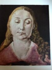 J1-2 Book Plate 6.5 X 8.5 Inches Albert Durer Study For The Head In A Madonna Pi
