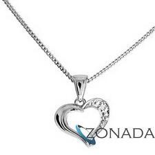 Diamond Open Heart 9ct 9k Solid White Gold Pendant W61428