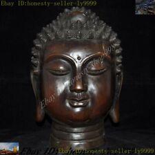 Tibetan Buddhism temple Bronze Shakyamuni Sakyamuni Tathagata Buddha Head Statue