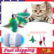 Cat Interactive Toy Automatic Irregular USB Charging Self Rotating Ball w/ LED