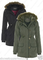 PARKA NEW Womens MILITARY Ladies JACKET COAT PADDED QUILTED Size 8 10 12 14 16