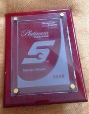 Snap On Tools Platinum Credit Sales Franchise Award 2009