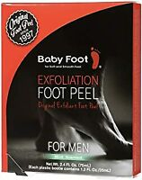 Baby Foot Exfoliant Foot Peel For MEN, Mint Scented | Exp: 10/2020 | Authentic