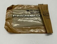 1971-74 Plymouth Cuda 3444927 NOS Stick On Name Plate Emblem Duster Barracuda