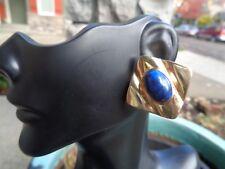 14K Gold Lapis Lazuli gorgeous stud earrings 9.3 grams