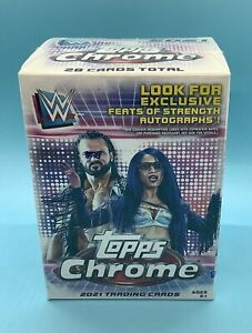 2021 Topps Chrome WWE Blaster Box - Factory Sealed - Auto? - Ships Fast