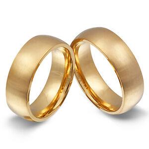 2 Partnerringe Eheringe Hochzeitsringe Edelstahl inkl. Gravur - 108HH