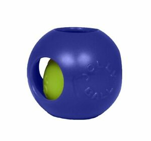 Jolly Pets Teaser Ball 6 inch Blue | Hard Plastic plus Squeaker Toy for Dogs