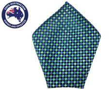 Men's Pocket Squares Green Checks Royal Wedding Handkerchief Hanky Grooms Hankie