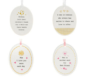 White Hanging Ceramic Thoughtful Words Sentiment Oval Sign Mum Nan Mother