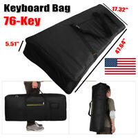Keyboard Organ GIG BAG 76-Key Padded Zippered Storage Travel Case Large Portable