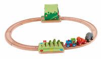 HAPE E3800 Jungle Train Journey Wooden Railway Set Toddler Children 18 Months+