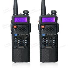 2pcs BaoFeng UV- 5R Black 2 Way Radio Transceiver+ 3800mah Battery Walkie Talkie