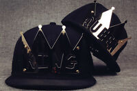 NEW Crown KING&QUEEN Snapback Hats Baseball Caps adjustable Hip Hop Hats BLACK