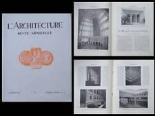 L'ARCHITECTURE n°7 1931 EXPOSITION COLONIALE, PARIS PALAIS PORTE DOREE, ART DECO