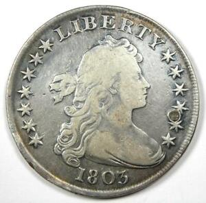 1803 Draped Bust Silver Dollar $1 Coin - Fine Details (Plugged) - Rare Date!