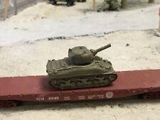 N Scale WW 2 era military army Sherman Tank 3 d printed