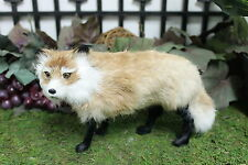 Standing Fox Replica Adorable Furry Animal Taxidermy Figurine Decor Cabin