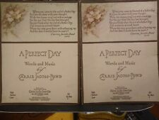 A Perfect Day 1910 Sheet Music Riverside Ca Lot of 2 Low & Medium Voice Vintage