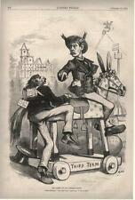 The Hobby in the Kinder-Garten - Grant 3rd Term - Thomas Nast -  Political -1874