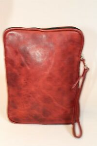 Cofi Case Leather Small Tablet Zippered Wristlet Padded Business Device Case