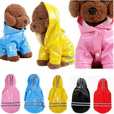 Dog Raincoat Waterproof Pet Rain Coat Rain Wear Clothes Hooded Reflective New 9