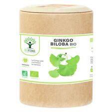 Ginkgo Biloba bio - Bioptimal - Mémoire Concentration Vertige - 200 gélules