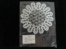 """Crocheted Lace Doily 5 1/2"""" Round with Intricate Detail Made in India"""