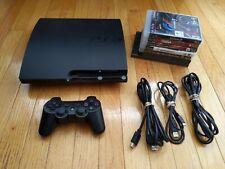 Sony Playstation 3 PS3 Slim 160GB CECH-3001A Console Lot w/ Games System Bundle