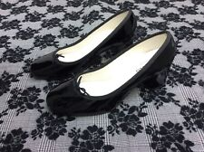 Repetto Paname Pumps Patent Leather Black Women's Shoe Size 39 Heels