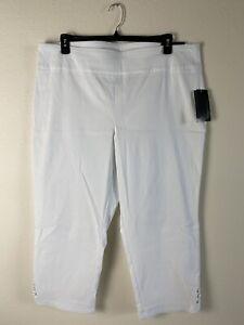 ATTYRE Caroline Womens Crop Pant Size 20 W. Reg . $ 56 White