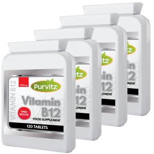Vitamin B12 Methylcobalamin 1mg(1000mcg) 480 Tablets Not Capsules Immune Fatigue