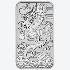 2018 $1 Silver Australian Dragon Rectangle 1 oz Brilliant Uncirculated
