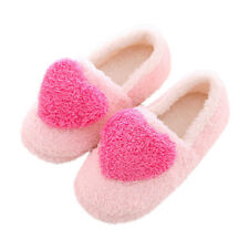 Women Lady Love Heart Soft Plush Slippers Padded Shoes Warm Shoes Xmas Gift New