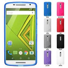 Silicone Case for Motorola Moto X Play - S-style Transparent - Cover PhoneNatic Protective Foils
