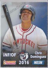 2016 Pawtucket Red Sox SGA Dunkin Donuts Chris Dominguez RC Rookie Boston